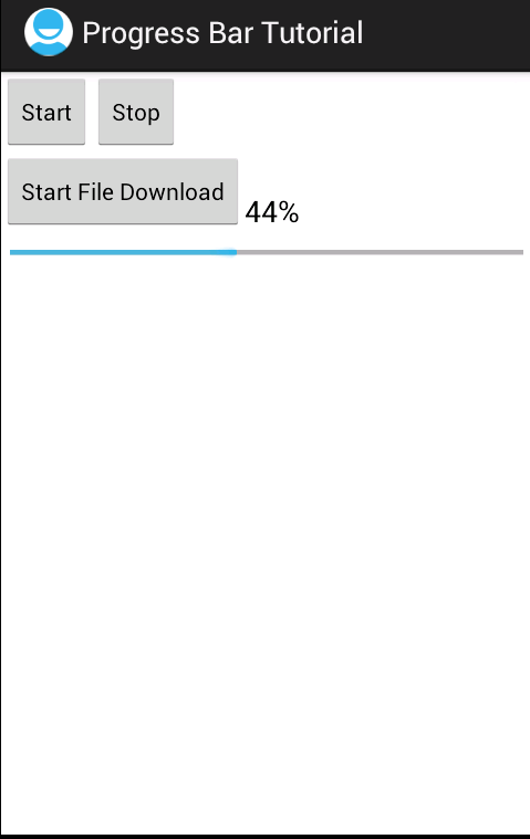 Programmers Sample Guide: Android Progress Bar Example