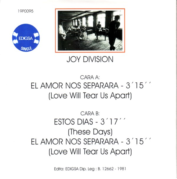 .SPANISH BOMBS: Joy Division -Love Will Tear Us Apart