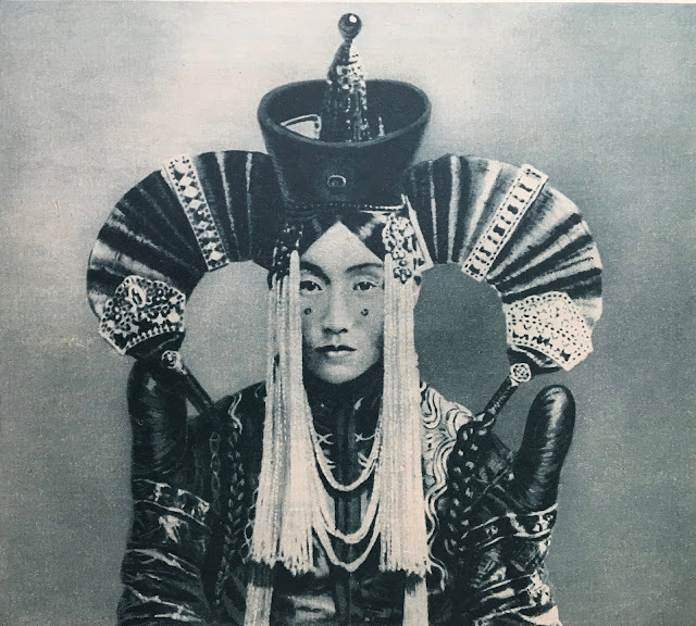 Art mongolian mongol Mongol noblewoman Sciences et Voyages magazine N° 262, September 1924