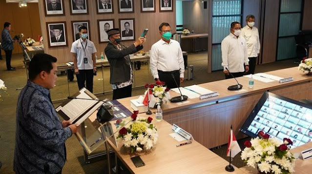 Erick Thohir Lantik 2 Pejabat Tinggi BUMN di Tengah Pandemi