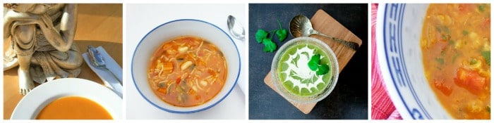 a selection of 5:2 diet soups