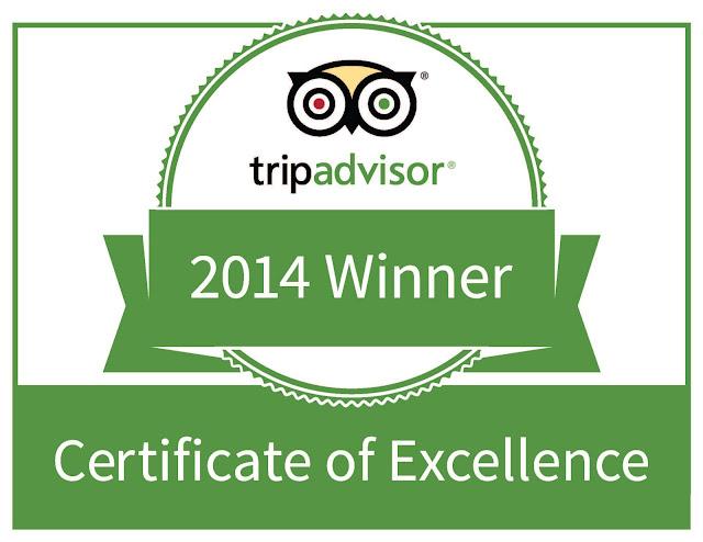 Roadstour Awarded 2014 Tripadvisor Certificate Of Excellence