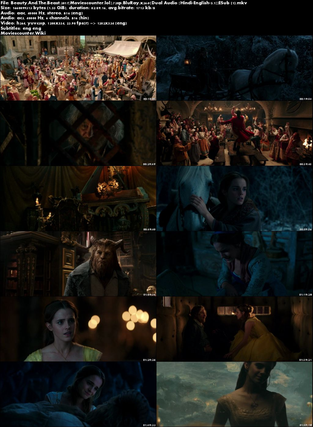 Screen Shots Beauty and the Beast 2017 Dual Audio HD 720p