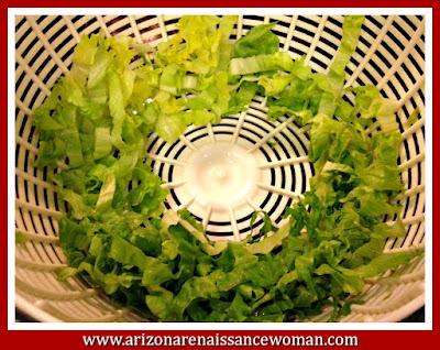 Sliced Green Leaf Lettuce for Chicken Salad Tacos