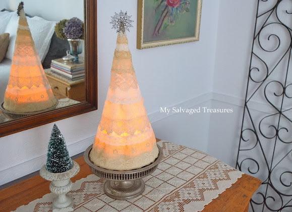 LED battery powered night light Christmas Tree