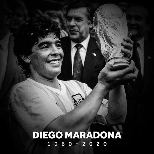 Diego Maradona Meninggal Dunia Di Usia 60 Tahun.