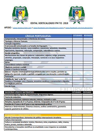 Edital verticalizado PMTO 2018