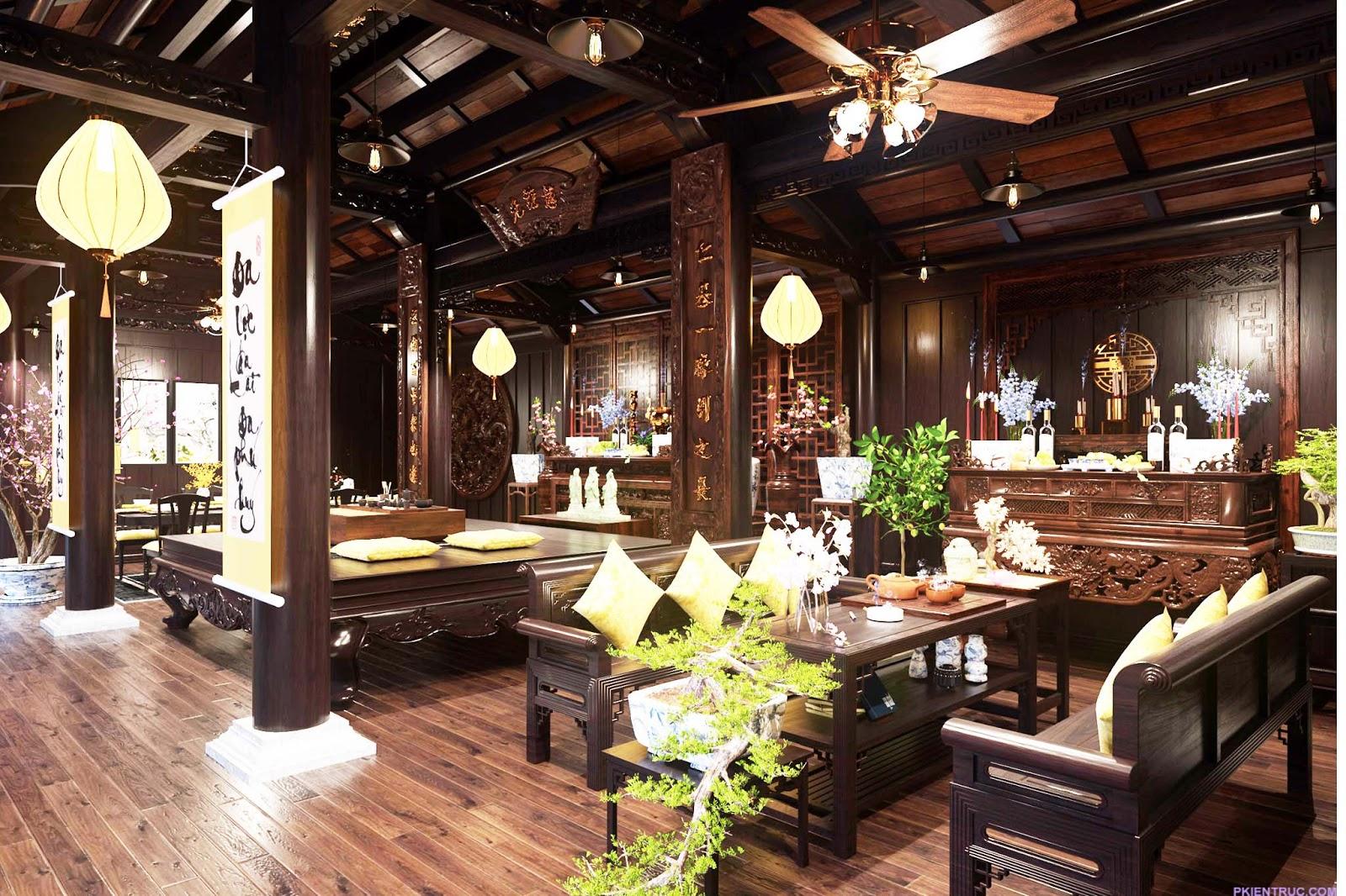 Nội thất nhà gỗ truyền thống