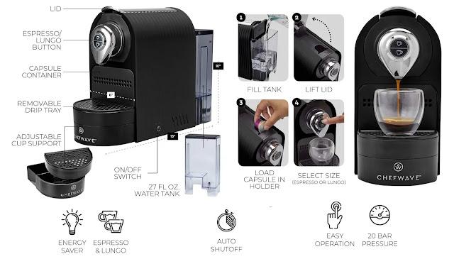 ChefWave Mini Espresso Machine Source review