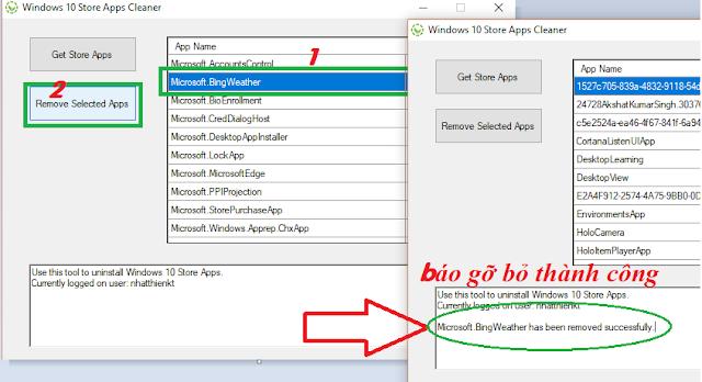 Gỡ bỏ sạch ứng dụng mặc định Windows 10 - Uninstall app Windows Store Windows 10