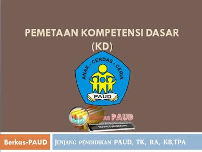 Pemetaan Kompetensi Dasar (KD) tingkat PAUD, TK, RA, KB,TPA