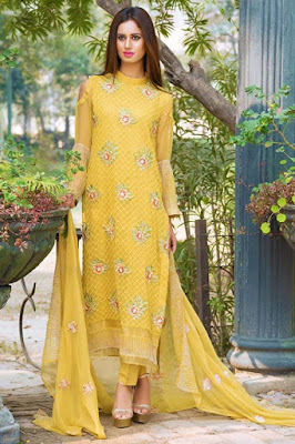 Motifz simple chiffon dresses pakistani