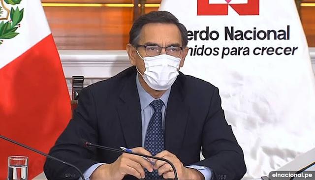 Presidente Martin Vizcarra en Foro del Acuerdo Nacional, Pacto Perú