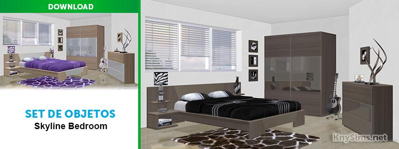 Download Set De Objetos Quarto Skyline Bedroom The Sims 4 Knysims