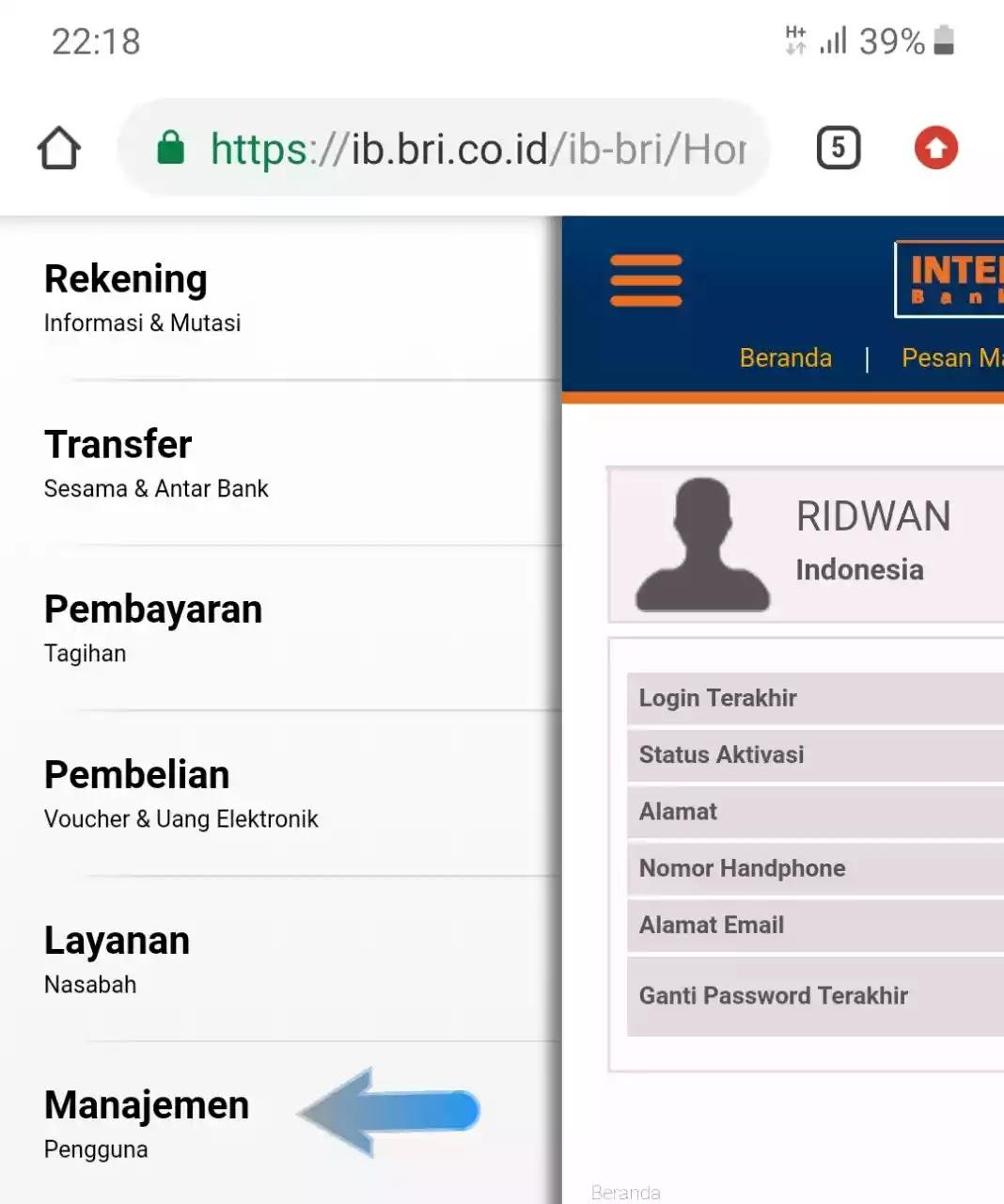 Cara Mengganti User Id Internet Banking Bri Bakul Oreg