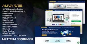 New Update Aliva Web - modelo de blogger responsivo