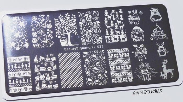 BeautyBigBang BBB-XL-033 Christmas festive stamping plate