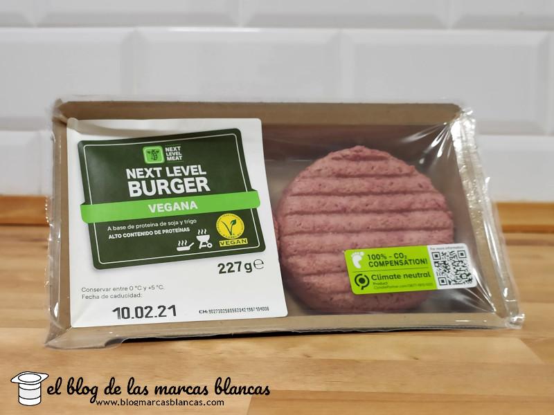 Ingredientes y valores nutricionales de la hamburguesa vegana Next Level Burger de Lidl en El Blog de las Marcas Blancas
