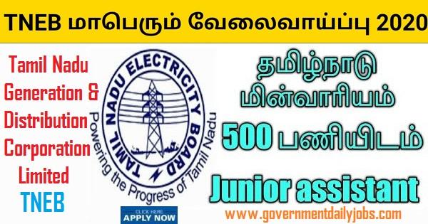 TNEB Junior Assistant Accounts Recruitment 2020