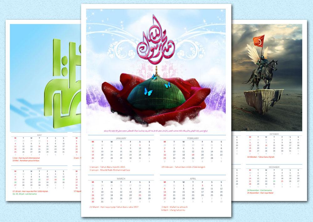 Cara membuat kalender 2015 Excel dan Photoshop