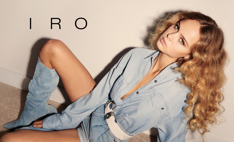 Olivia Vinten Gets Glam in IRO Spring 2020 Campaign