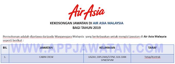Temuduga Terbuka di Air Asia Malaysia.