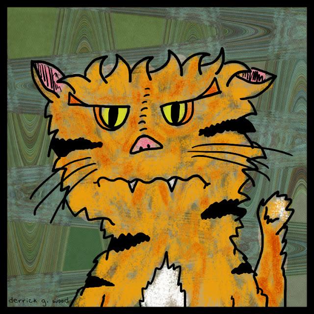 orange black cartoon cat art artist garfield