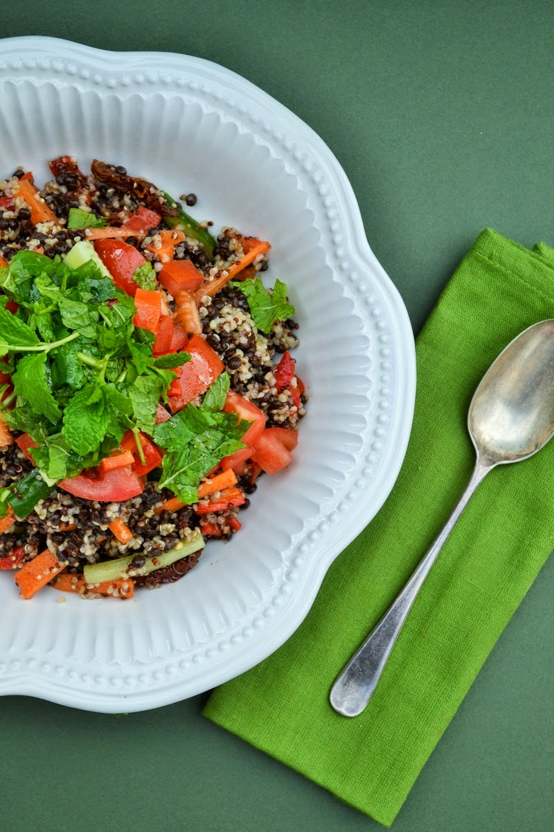 Bulgar, Couscous and Puy Lentil Salad