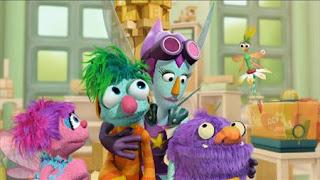 Abby Cadabby, Blögg, Gonnigan, Mrs. Sparklenose, Abby's Flying Fairy School Super Fairy, Sesame Street Episode 4412 Gotcha season 44