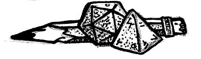 """Perhaps this sketch could be a part of your logo! Or a little bit of set dressing on a """"what's a roleplaying game"""" page!"""