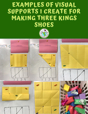 Three Kings Paper Shoes