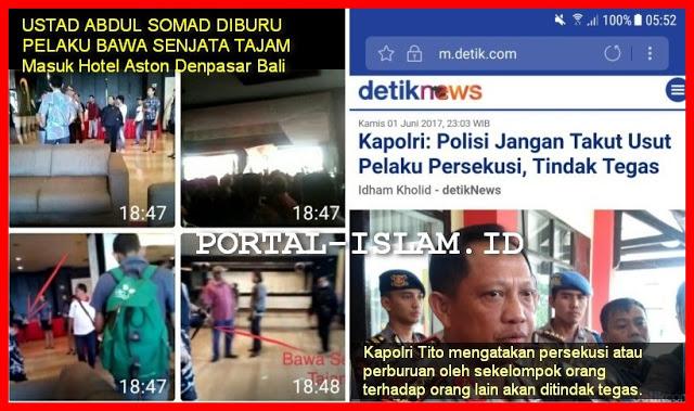 Ustad Abdul Somad Diburu Pakai Senjata Tajam di Bali, Pak Kapolri Kapan Pelaku Persekusi Ini Ditindak Tegas?