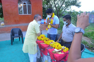 पत्रकारों द्वारा एसडीएम श्री राठौड़ को दी विदाई एवं नवागत एसडीएम श्री नरवरिया का किया स्वागत