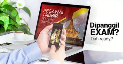 Contoh Soalan Peperiksaan Online Pegawai Tadbir N29 Negeri Sarawak