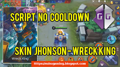 Script No Cooldown Skin Epic Jhonson - Wreck King