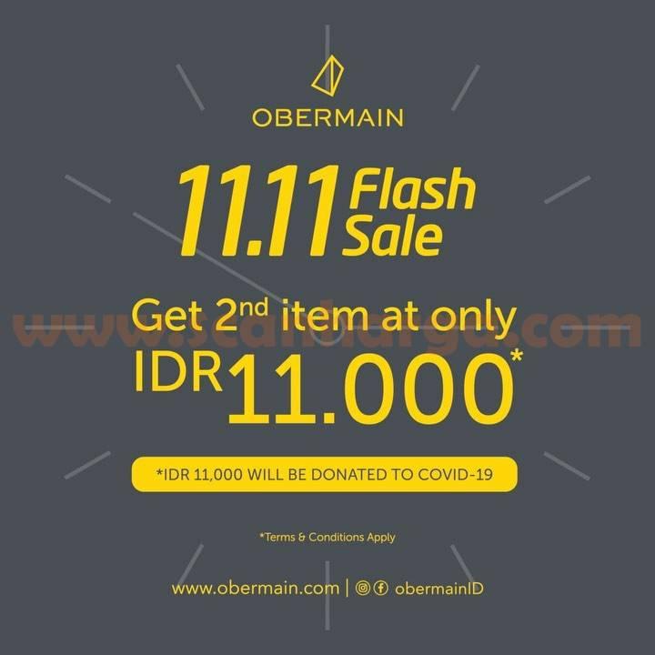 Obermain 11.11 Flash Sale - Bayar cuma Rp 11.00 untuk item kedua
