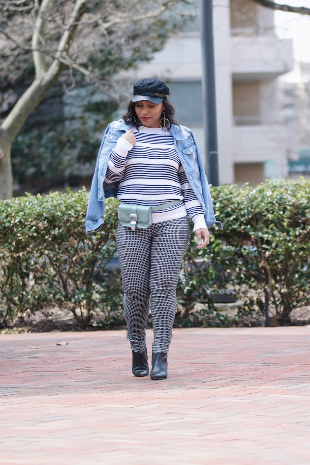 Belt bag trend, belt bag, fashion styles, mom blogger, style the bump, thredup, spring styles