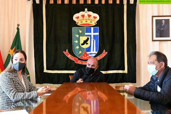 El Cabildo acuerda con el Ayuntamiento  de Puntallana mejorar la pista del Pico  de La Nieve