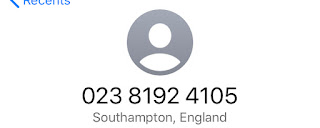 Scam Call from Southampton