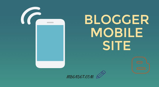 blogger mobile website