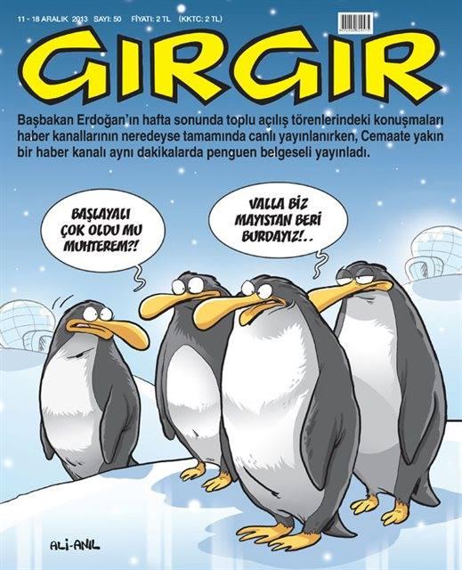 Gırgır Dergisi - 11-16 Aralık 2013 Kapak Karikatürü