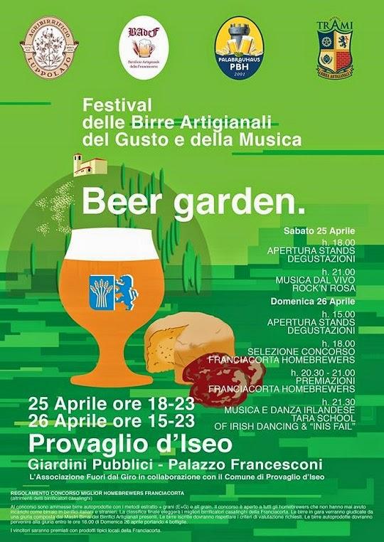 Beer Garden 25 e 26 Aprile Provaglio d'Iseo
