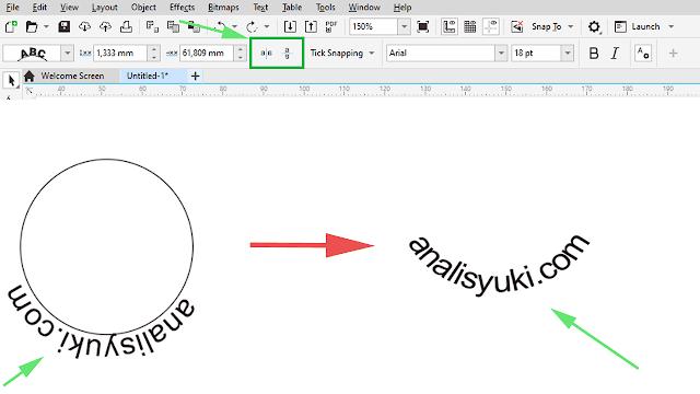 Cara Membuat Tulisan Melengkung di CorelDRAW