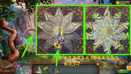 устанавливаем все лепестки и кристалл пути, проходим дальше в игре наследие 3 дерево силы