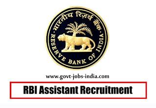 RBI Assistant Recruitment 2019