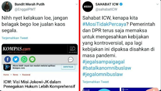 Sok Jadi Pahlawan, ICW Dihajar Netizen: Nih Nyet Kelakuan Loe Dulu, Jangan Belagak Bego Loe!