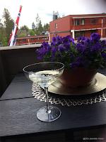 Champagne på  verandaen!