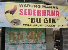 Warung Makan Bu Gik Taunan Tegalarum Kecamatan Jaken