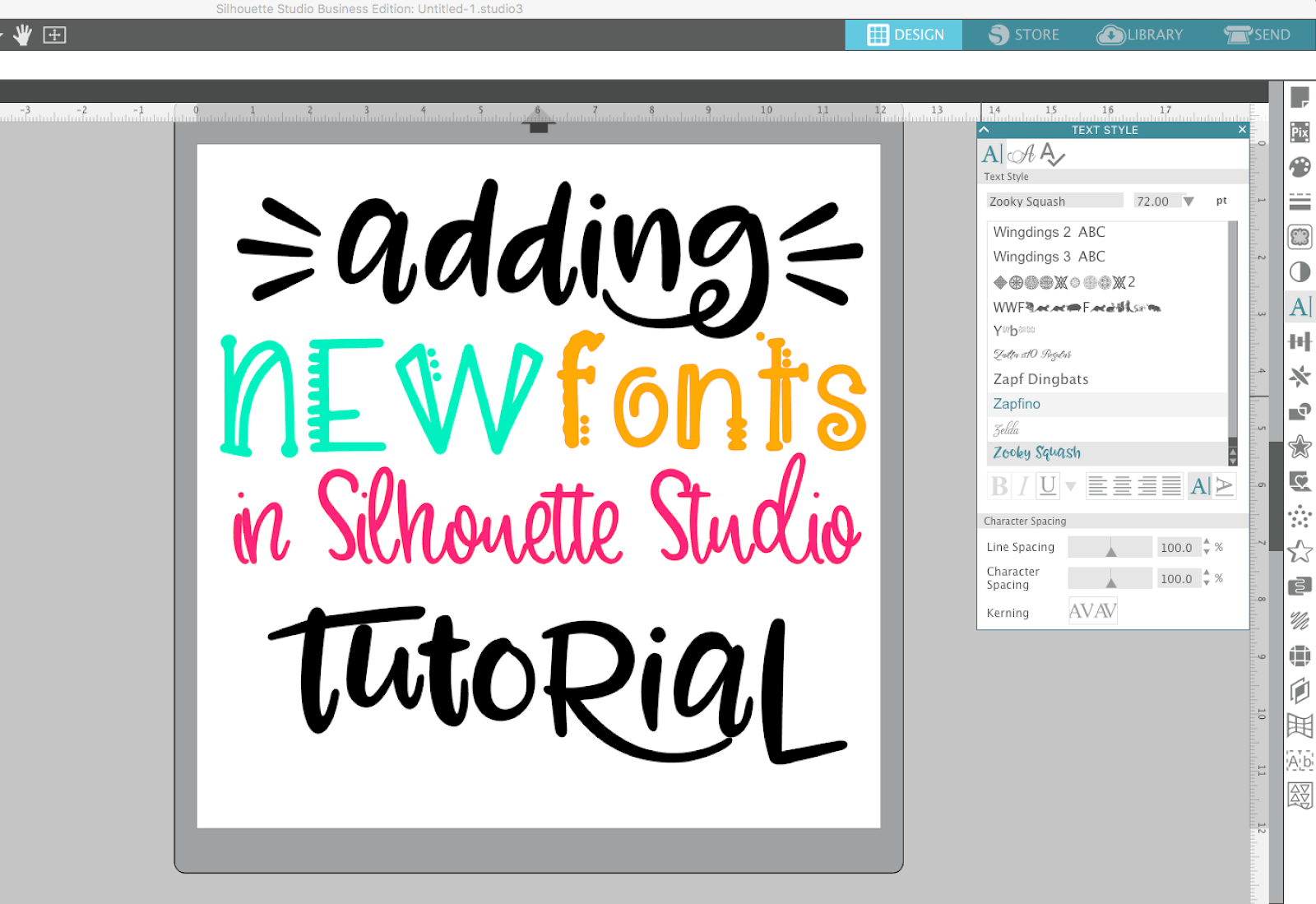 Beginner Silhouette Studio V4 Font Tutorial How To Add New Fonts Pc And Mac Silhouette School