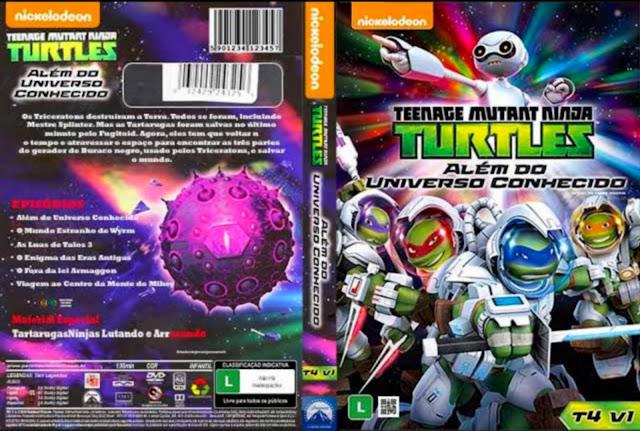Capa DVD Teenage Mutante Ninja Turtles Além Do Universo Conhecido